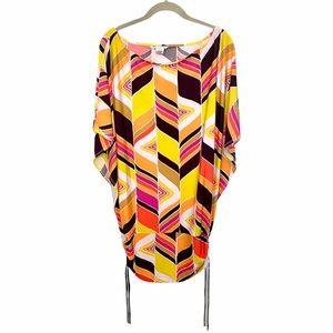 Trina Turk Multi Color Geo Mandalay Swim Tunic